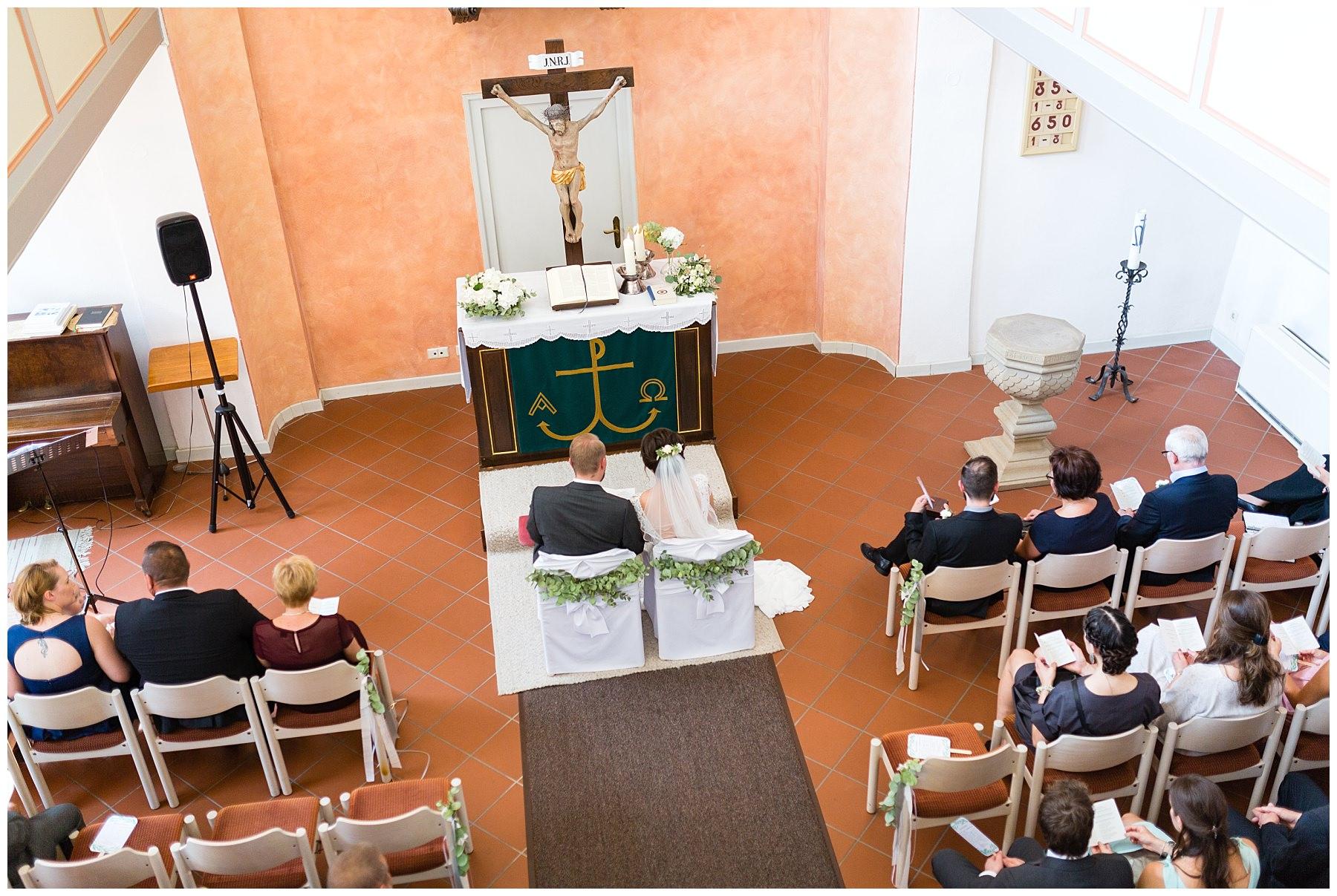 Trauung in der Kirche in Altenmünster in Crailsheim