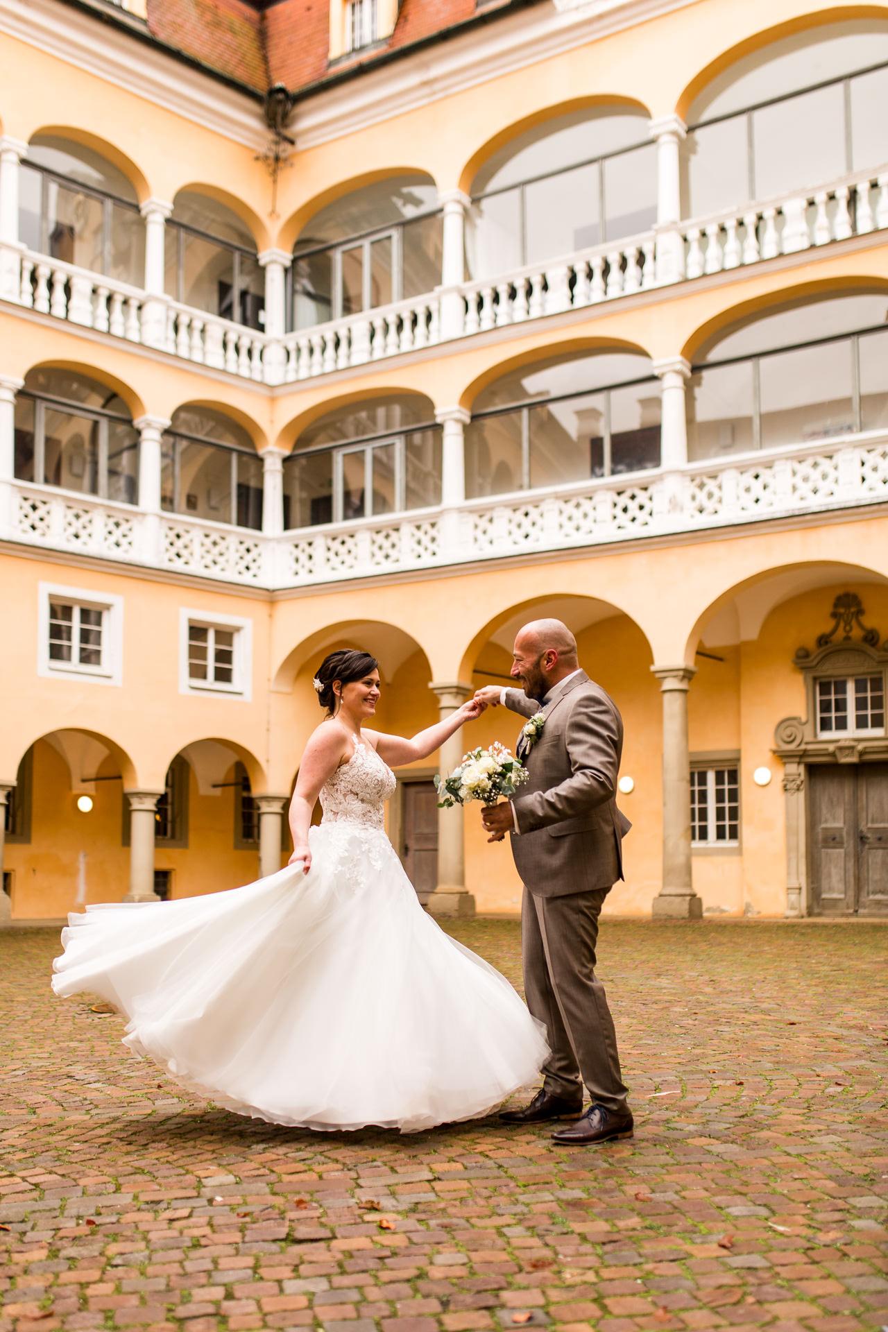 Winterliche Hochzeitsfotos am Schloss Ellwangen von Daniela Knipper