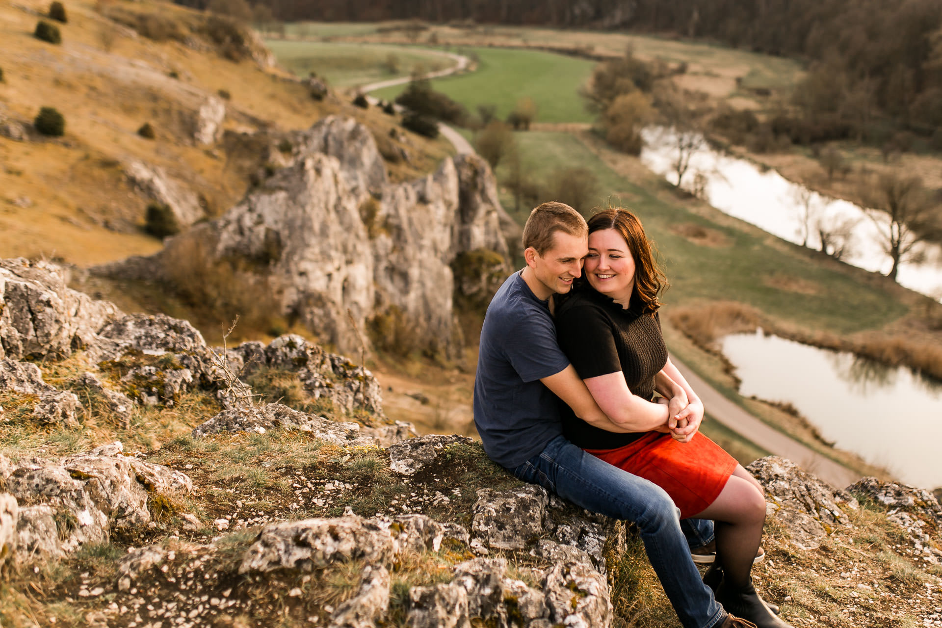 Romantisches Verlobungsshooting im Eselsburger Tal