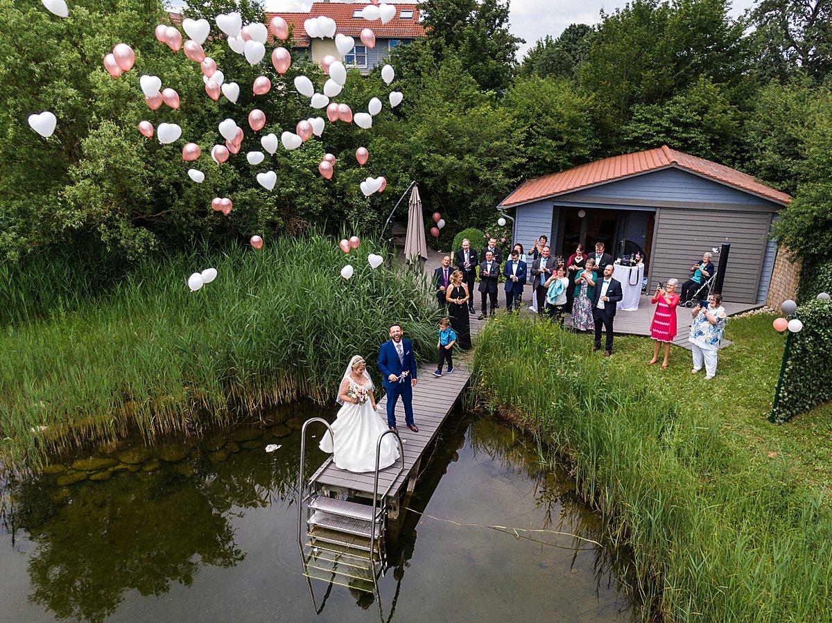 Drohnenfotos bei der Hochzeit in Crailsheim
