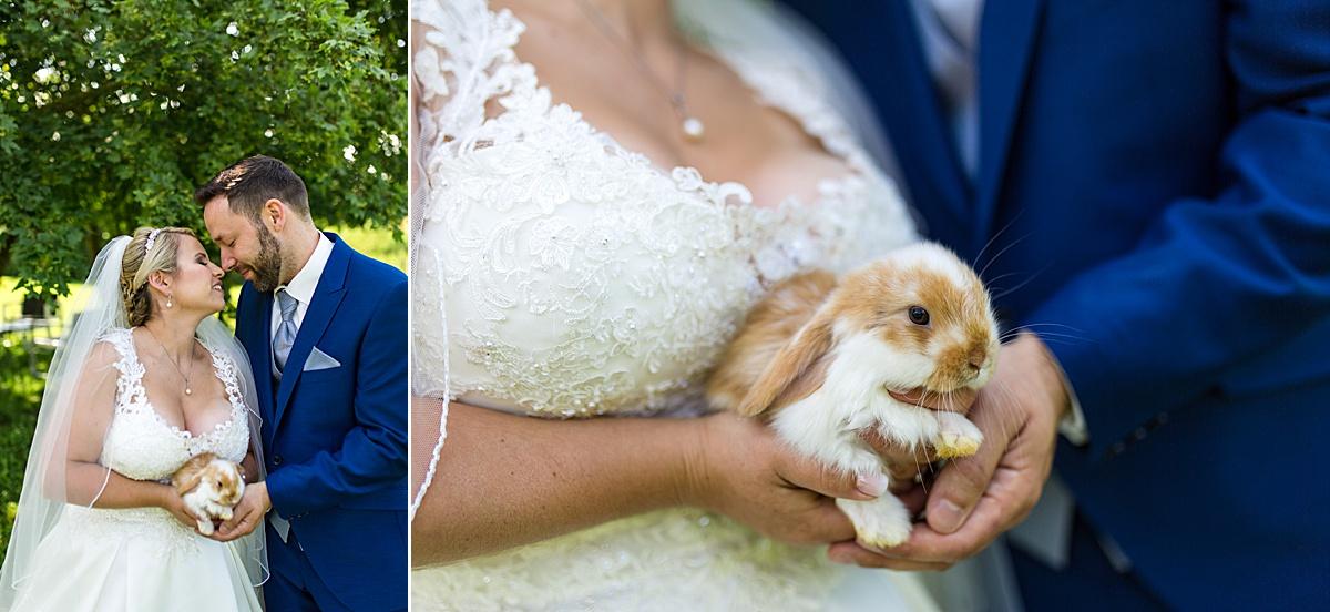 Brautpaarshooting mit Hasen in Crailsheim