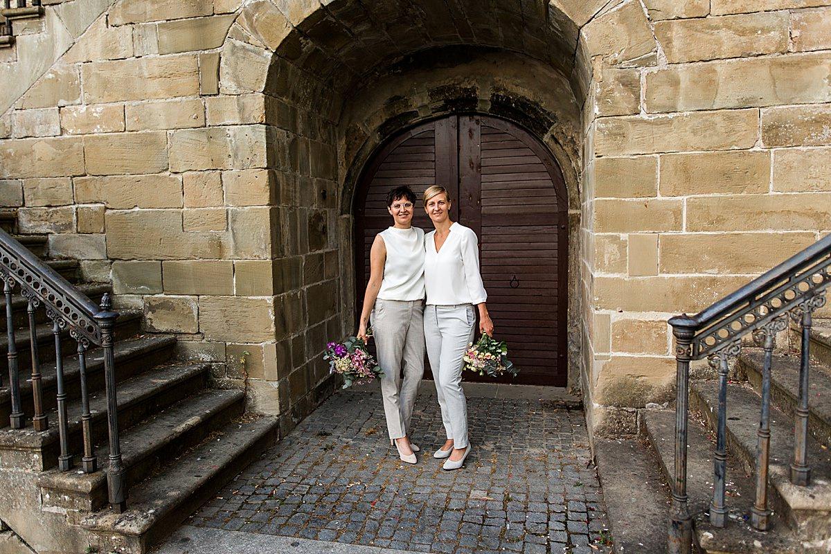 Moderne Hochzeit von zwei Frauen in Öhringen