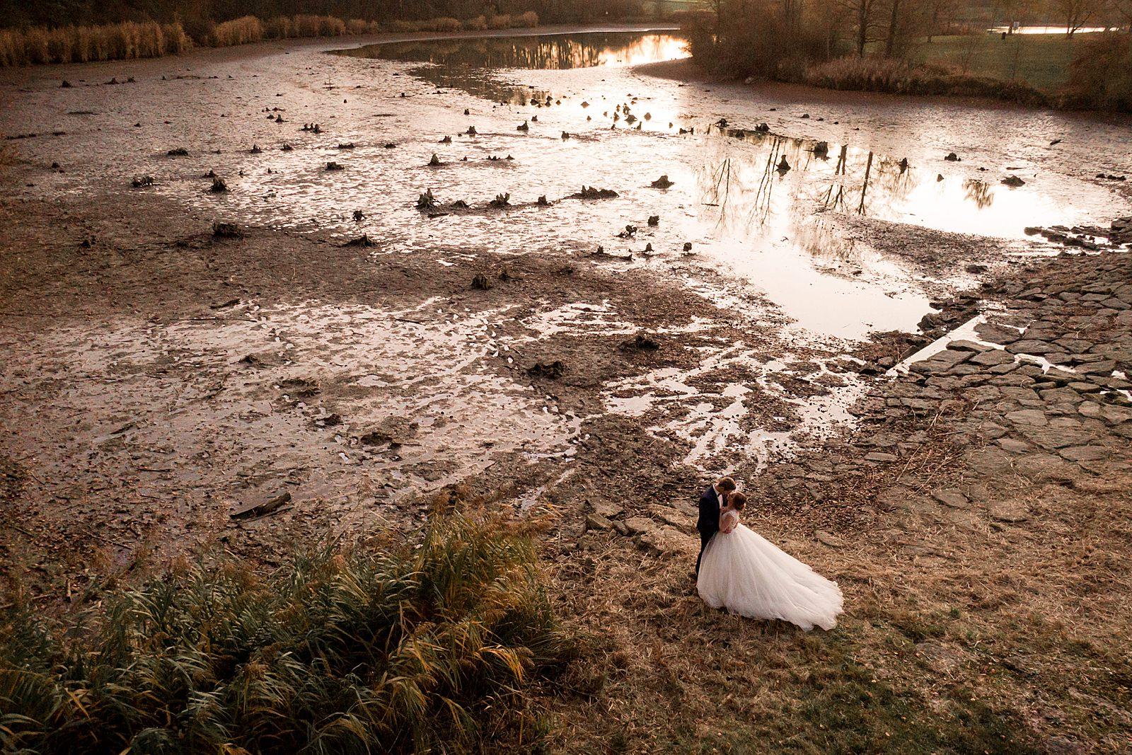 Drohnenfotos von einem Brautpaarshooting in Crailsheim