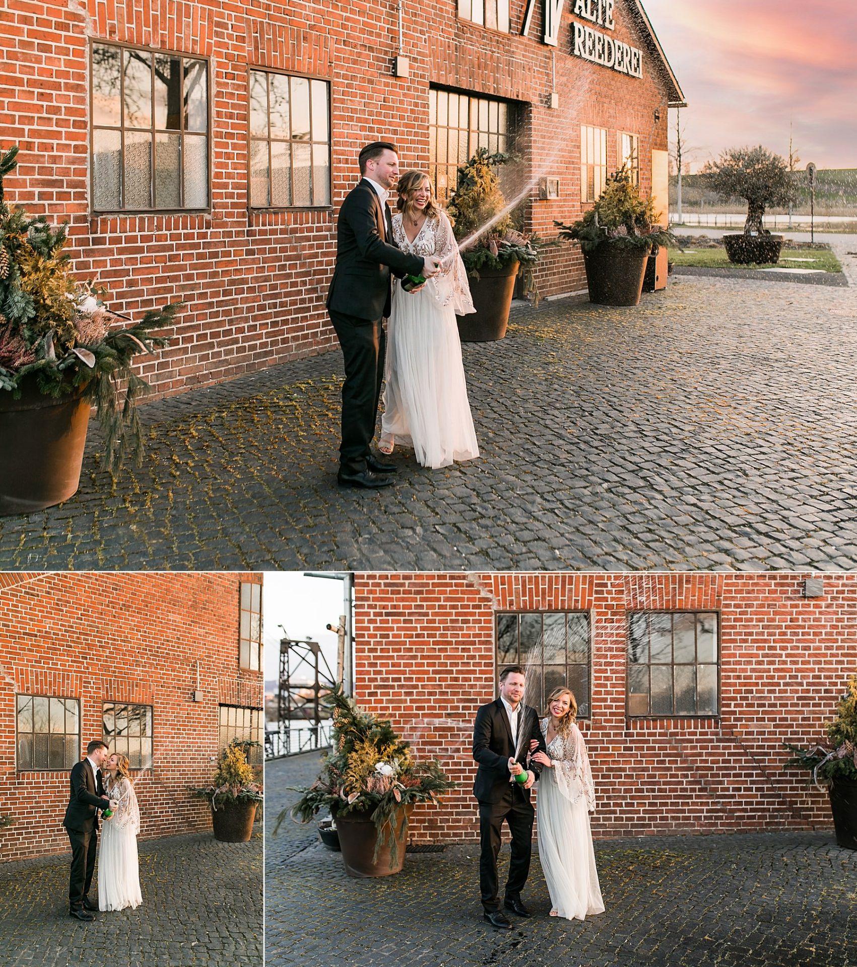 Brautpaarshooting vor der Alten Reederei in Heilbronn