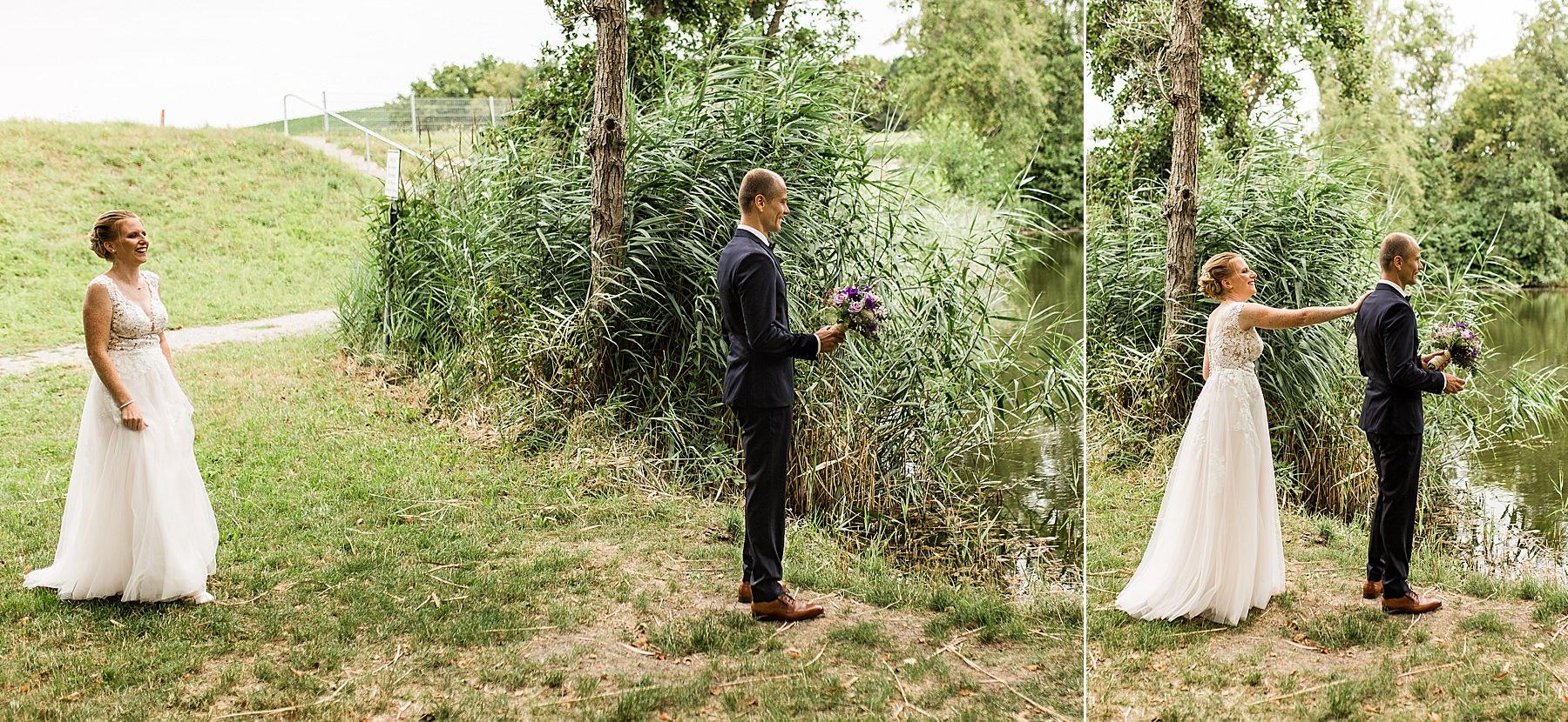 First Look bei einer Hochzeit in heilbronn am See