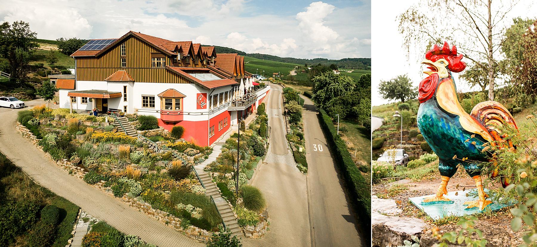 """Hotel """"Da wo der Hahn kräht"""" Hochzeitslocation in Flein bei Heilbronn"""
