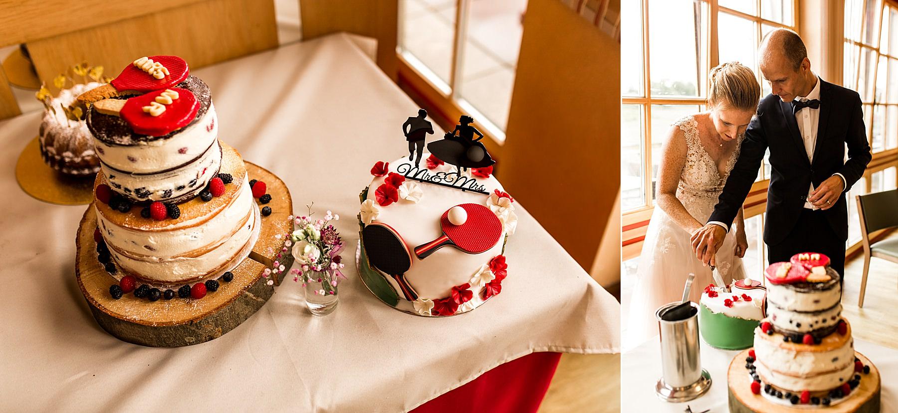 Hochzeitstorte in Heilbronn für Tischtennis-Fans