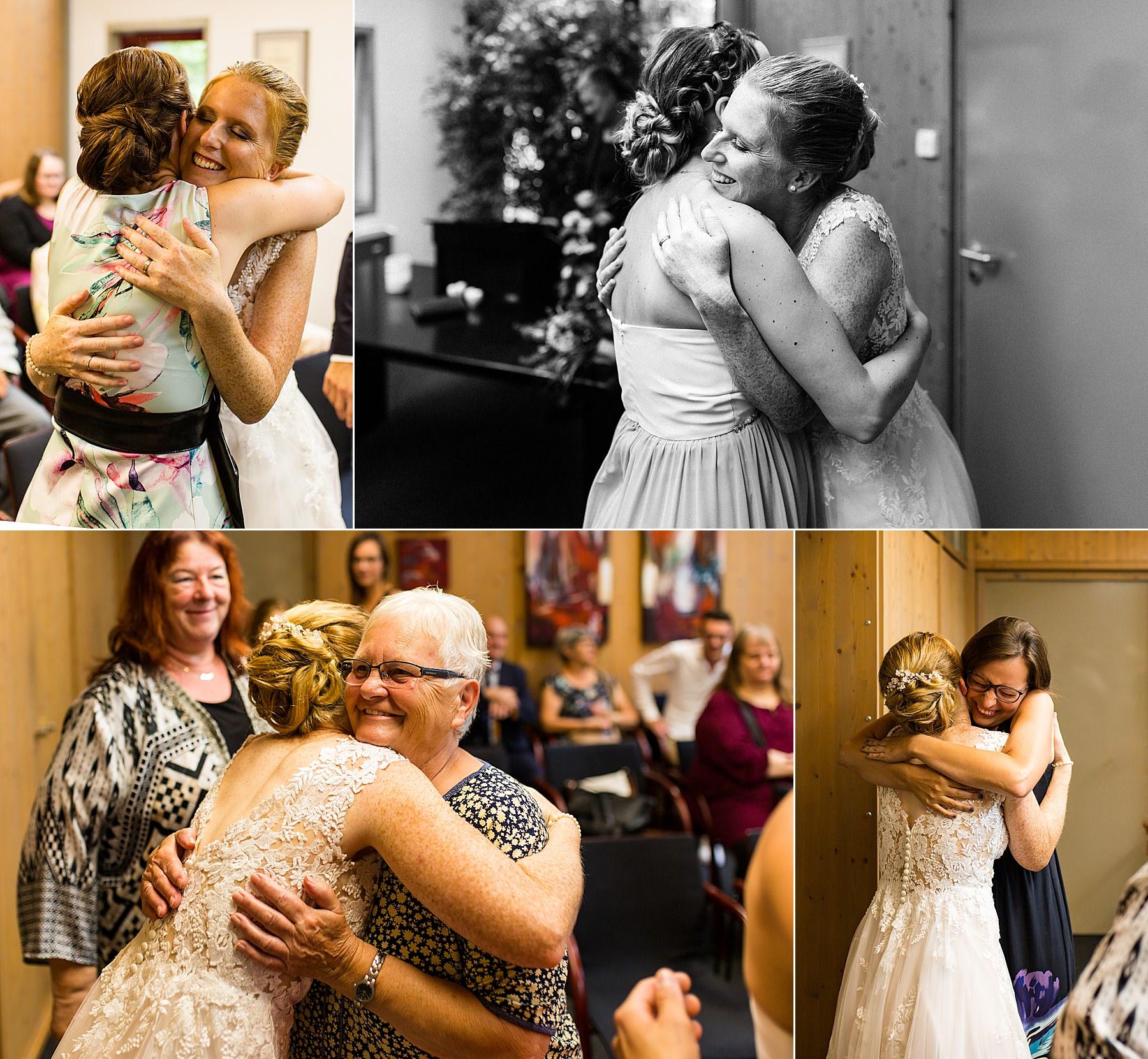 Gratulation bei einer Hochzeit im Rathaus Flein
