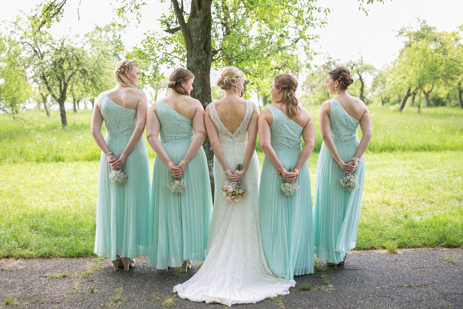 Aufgaben Der Brautjungfern Bridesmaids Der Braut Auf Der Hochzeit